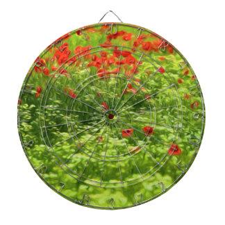 Sommer-Gefühle - wunderbare Mohnblumen-Blumen V Dartscheibe