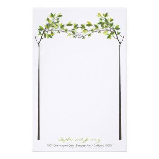 Sommer geknotete Liebe-Bäume, die Briefpapier