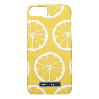 Sommer-gelbe Zitrone schneidet Muster iPhone iPhone 8/7 Hülle