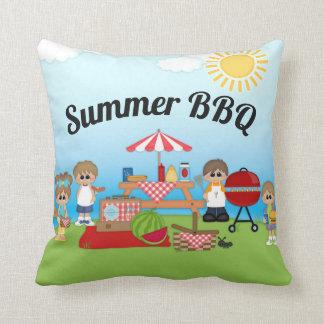 Sommer GRILLEN Picknickthrow-Kissen Kissen