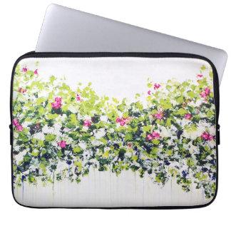Sommer-grüne Blumenlaptop-Hülse Computer Sleeve Schutzhülle