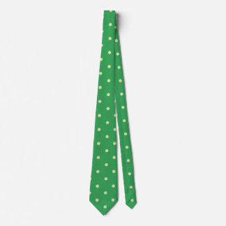 Sommer-grüner Tupfen Krawatte