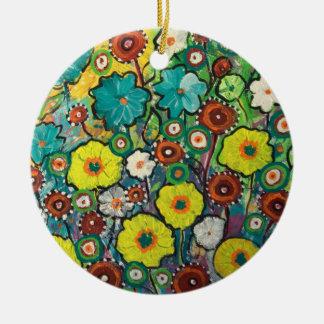 Sommer-hängende Verzierung mit Wiesen-Kunst Keramik Ornament