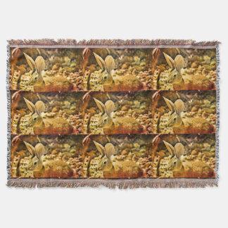 Sommer-Häschen-Wurfs-Kissen Decke