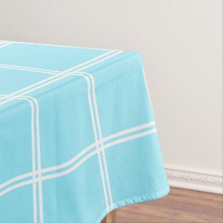 Sommer-Himmel-Blau-und weißerdoppelter Streifen Tischdecke