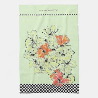Sommer in Fall-Shabby Chic-Wildblumen Küchentuch