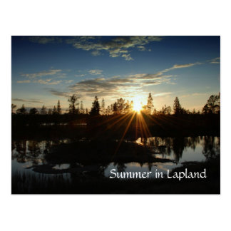 Sommer in Lappland - Postkarte