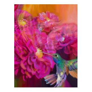 Sommer in voller Blüte Postkarte