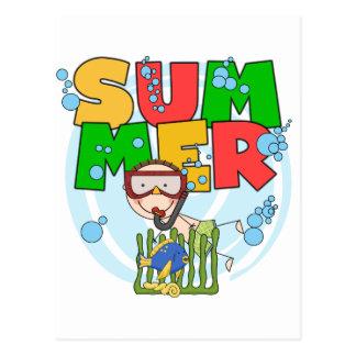 SOMMER - Jungen-UnterwasserT - Shirts und Postkarte