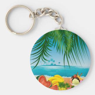 Sommer-Küste Schlüsselanhänger