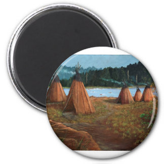 Sommer-Lager Runder Magnet 5,7 Cm