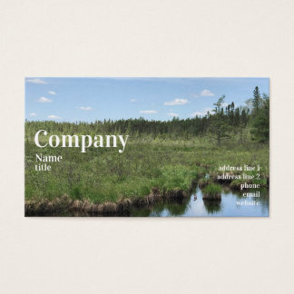 Sommer-Landschafts-LandschaftsVisitenkarten Visitenkarte