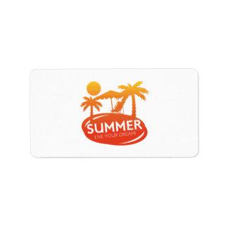 Sommer - leben Ihr Traum Adressaufkleber