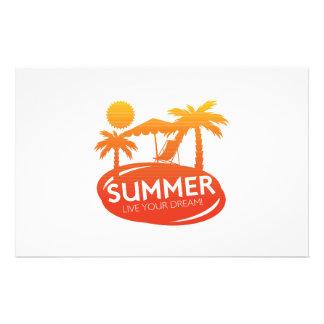 Sommer - leben Ihr Traum Briefpapier