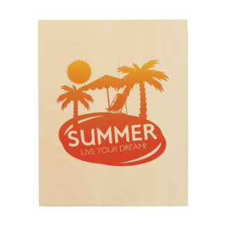 Sommer - leben Ihr Traum Holzleinwand