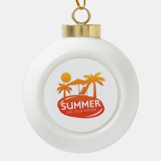 Sommer - leben Ihr Traum Keramik Kugel-Ornament