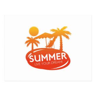 Sommer - leben Ihr Traum Postkarte