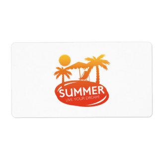 Sommer - leben Ihr Traum Versandetiketten