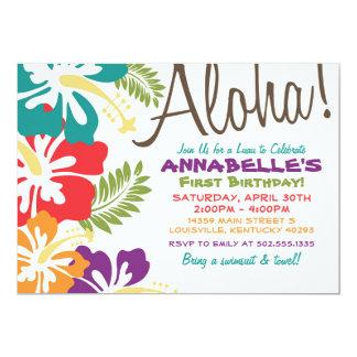 Sommer Luau Hawaiianer-Einladung 12,7 X 17,8 Cm Einladungskarte