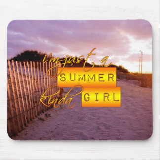 Sommer-Mädchen Mauspads