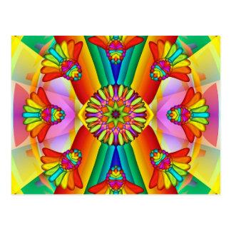 Sommer-Mandala-Postkarte Postkarten