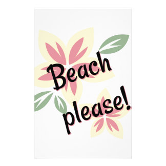 Sommer mit Blumen - Strand bitte Briefpapier