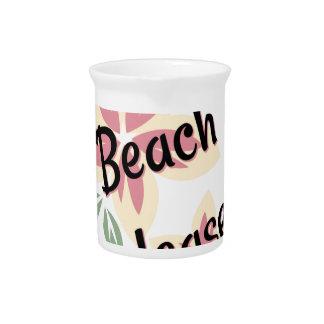 Sommer mit Blumen - Strand bitte Getränke Pitcher