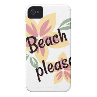 Sommer mit Blumen - Strand bitte iPhone 4 Hülle