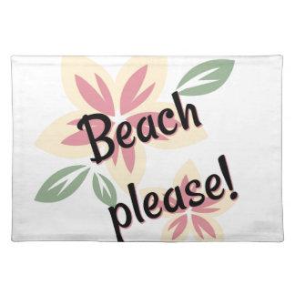 Sommer mit Blumen - Strand bitte Tischset