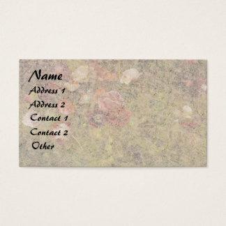 Sommer-Mohnblumen-Blumen-Wiesen-Geschäfts-Karte Visitenkarte