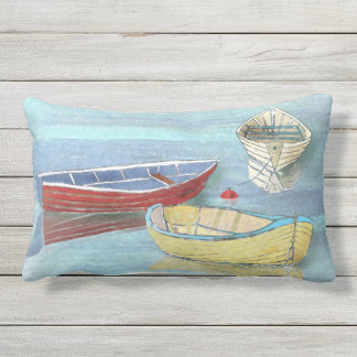 Sommer-Morgen-Boote am Erholunglumbar-Kissen Lendenkissen