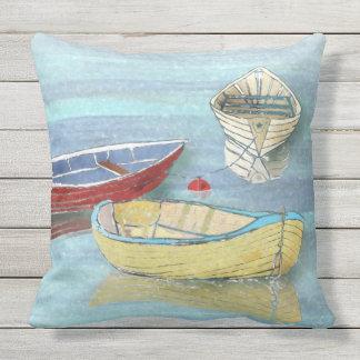 Sommer-Morgen-Boote am Erholungs-Kissen Kissen