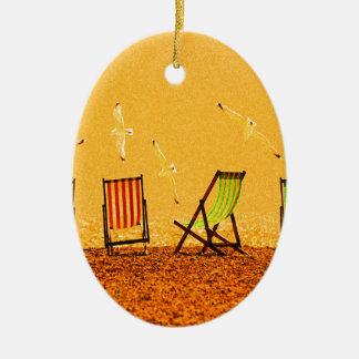 Sommer Ovales Keramik Ornament