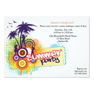 Sommer-Party Einladung