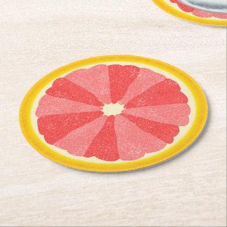 Sommer-Party-Pampelmusen-Scheibe-Frucht halb Runder Pappuntersetzer