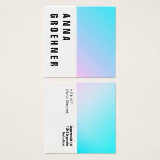 Sommer-Pastellsteigungs-Künstler-Karten Quadratische Visitenkarte