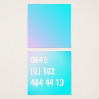 Sommer-Pastellsteigungs-Telefonnummer Quadratische Visitenkarte