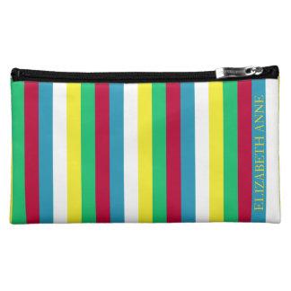 Sommer-Picknick-Paletten-Streifen personalisiert Cosmetic Bag