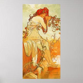 Sommer-Plakat Alphonse Mucha Poster