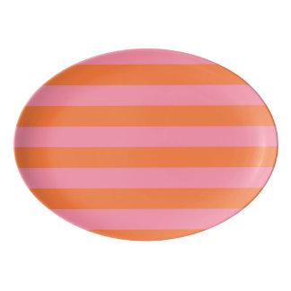 Sommer-rosa Orange zeichnet Porzellan Servierplatte