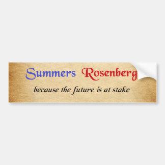 Sommer/Rosenberg-Kampagnen-Aufkleber Autoaufkleber