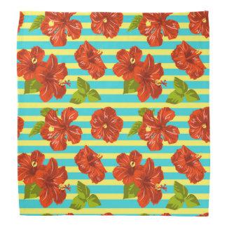 Sommer-roter Hibiskus-nahtloses Muster Halstuch