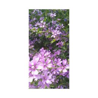 Sommer-Ruhm, lila Wildblume-Wand-Kunst Leinwanddruck