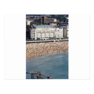 Sommer-San Sebastián Strand Baskenland Postkarte