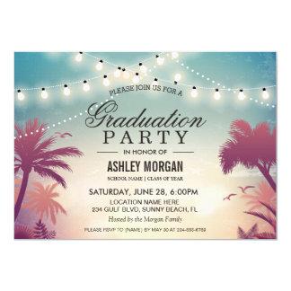 Sommer-Schnur beleuchtet Abschluss-Party im Freien 12,7 X 17,8 Cm Einladungskarte
