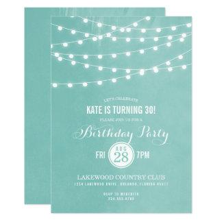 Sommer-Schnur beleuchtet Geburtstags-Party Karte