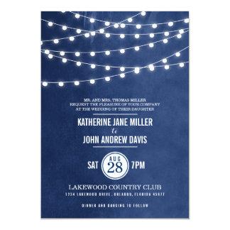 Sommer-Schnur beleuchtet Hochzeits-Einladung 12,7 X 17,8 Cm Einladungskarte