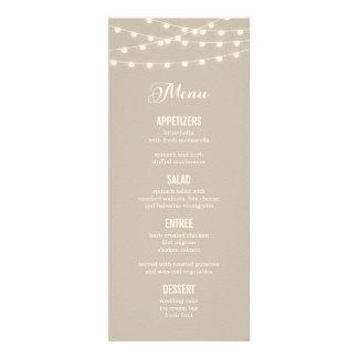 Sommer-Schnur beleuchtet Hochzeits-Menü-Karte Individuelle Einladungskarten
