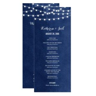 Sommer-Schnur beleuchtet Hochzeits-Programm Karte