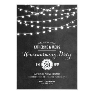 Sommer-Schnur beleuchtet Housewarming-Party Personalisierte Einladungskarte